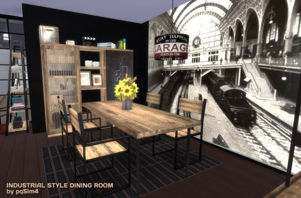 Pqsims4 Industrial Style Diningroom Sims 4 Downloads