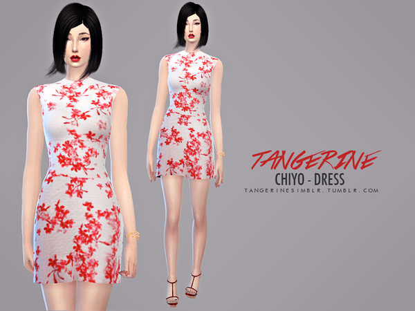 Sims Fans: Chiyo   Dress by Tangerine