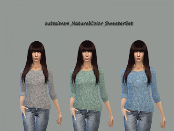 The Sims Resource: Natural Colors Sweater  by Sweetsims4