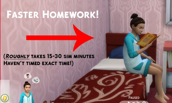 Mod The Sims: Simstopics Faster Homework by devilgurl