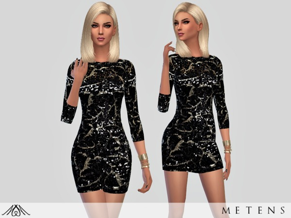 The Sims Resource: Black Sand   Dress by Metens