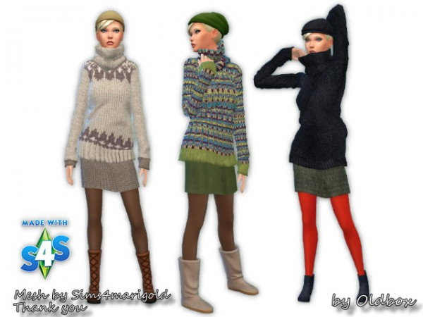 All4Sims: Sweaters, eyes and plants by Chalipo