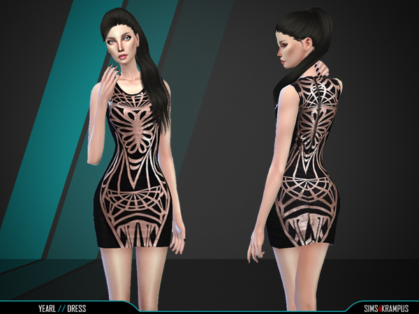 The Sims Resource: Yearl Dress by SIms4Krampus