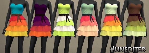 Simsworkshop: Palette of Ruffles Dress