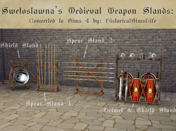History Lovers Sims Blog: Medieval Weapon Stands