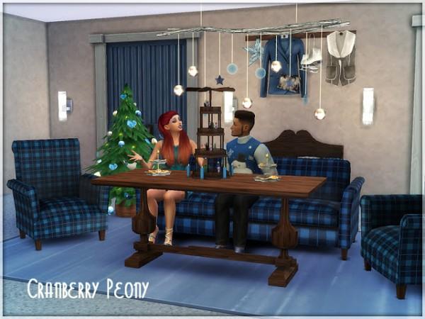 Sims Studio: Cranberry Peony