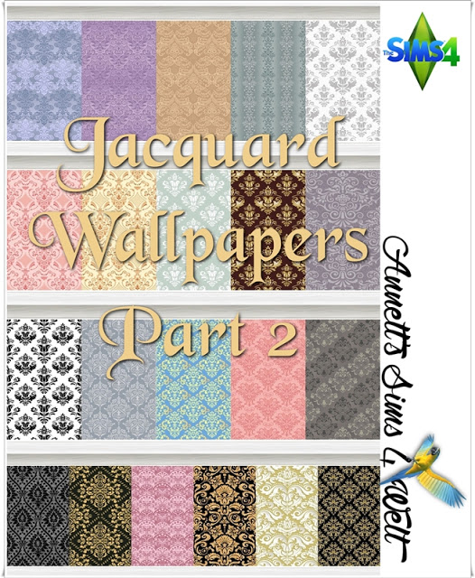 Annett`s Sims 4 Welt: Jacquard Wallpapers   Part 2