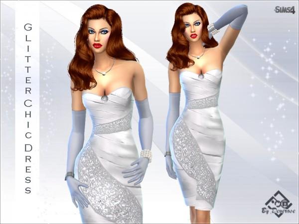 The Sims Resource: Glitter Chic Dress