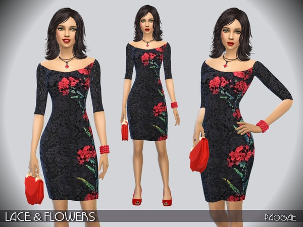 The Sims Resource: Lace & Flowers by Paogae