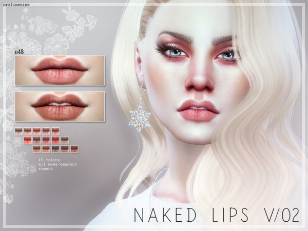 The Sims Resource: Naked Lips V02   N48 by Pralinesims