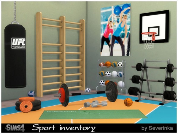 Sims By Severinka Sport Inventory Set Sims 4 Downloads