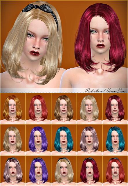 Jenni Sims: Newsea Lafite Hairstyle retexture