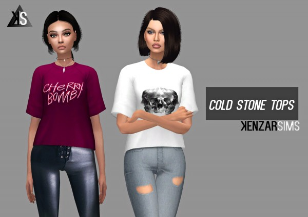 Kenzar Sims: Cold Stone tops