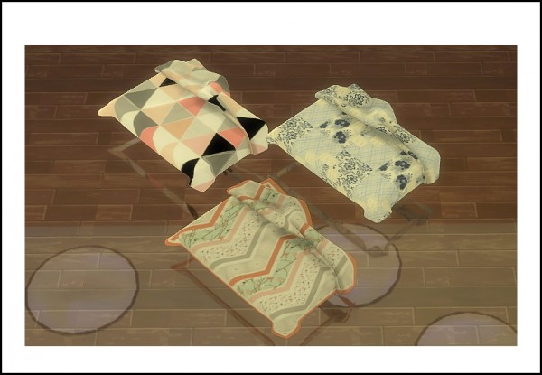 Sims 4 Designs: Terris Sanctuary Bedding Sets converted from TS2 to TS4