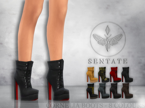 The Sims Resource: Cornelia Boots by Sentate