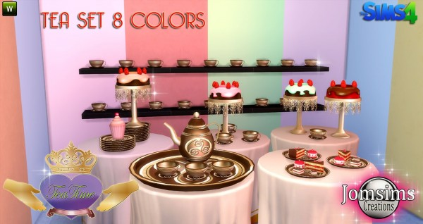 Jom Sims Creations Tea Time Set Sims 4 Downloads