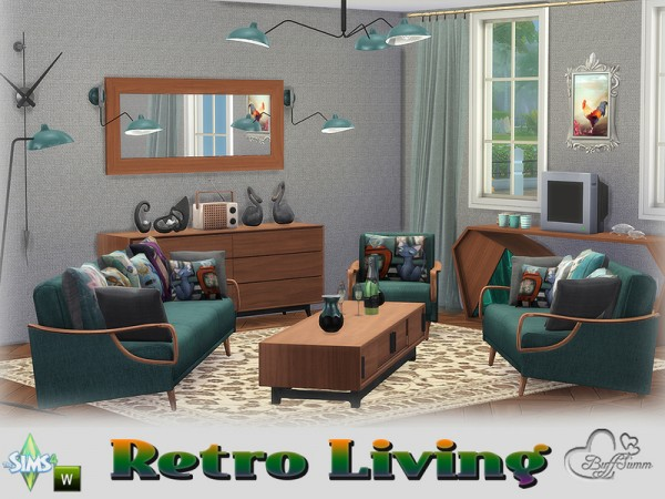 The Sims Resource Retro Livingroom By Buffsumm Sims 4