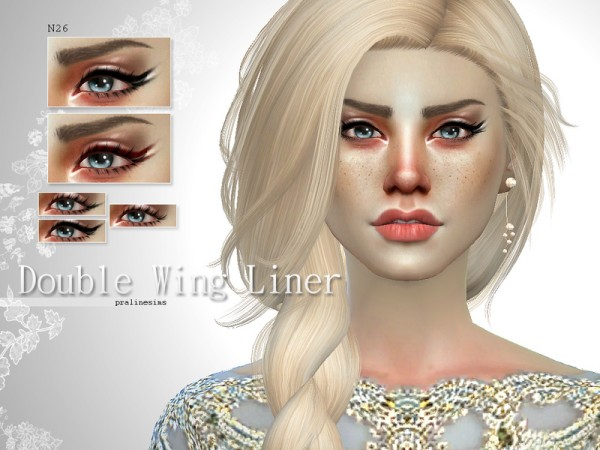 The Sims Resource: Double Wing Liner   N26 by Pralinesims