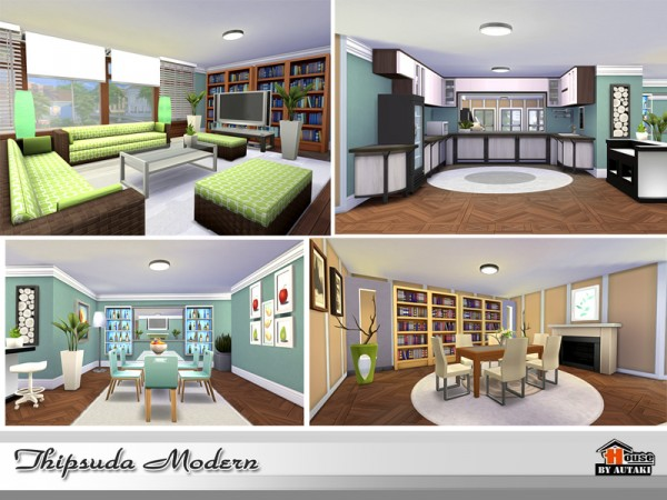 The Sims Resource: Thipsuda Modern house by Autaki