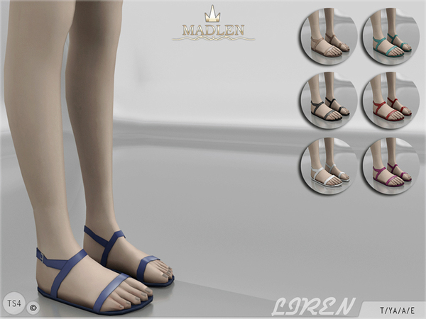 The Sims Resource: Madlen Liren Sandals by MJ95