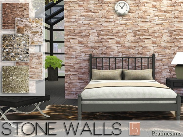 The Sims Resource Stone Walls 5 By Pralinesims Sims 4