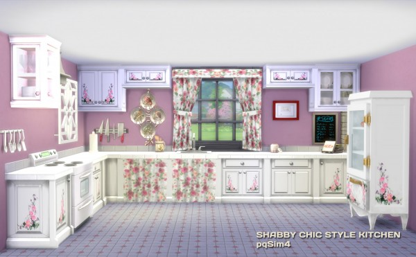 PQSims4: Shabby Chic Style Kitchen • Sims 4 Downloads