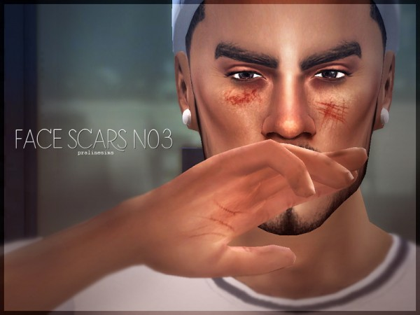The Sims Resource: Face Scars N03 by PralineSims