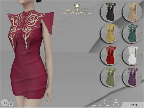 The Sims Resource: Madlen Lucia Dress by MJ95