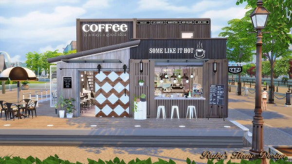 Ruby S Home Design Container Coffee Shop Sims 4 Downloads