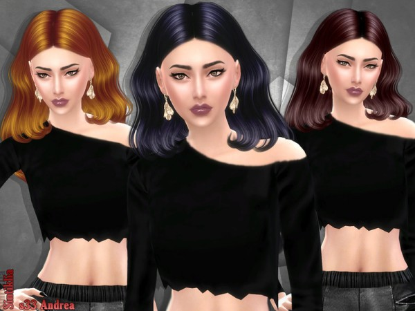 The Sims Resource: Hair 33 Andrea by Sintiklia