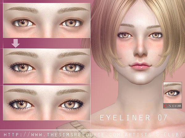 The Sims Resource: Eyeliner 07 by S Club