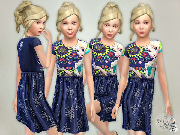 The Sims Resource: Frozen Dress by lillka