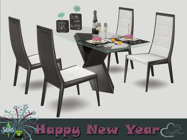 The Sims Resource: New Year 2016 Dining by BuffSumm