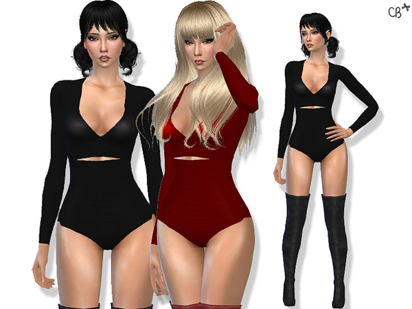 The Sims Resource: Power Cat suit by CherryBerrySim