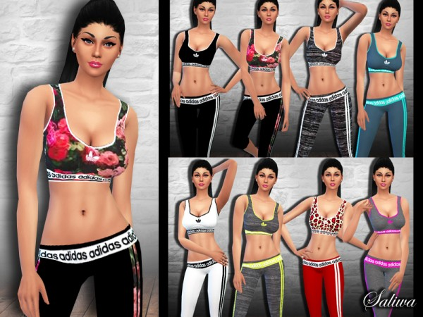 The Sims Resource: New Style Athletic Outfits by Saliwa