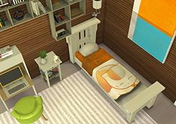 Enure Sims: Bed Recolor Natsume Yuujinchou