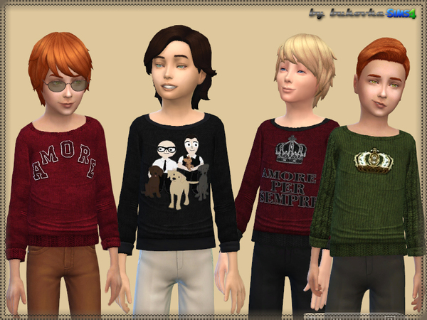 The Sims Resource: Sweater Amore by bukovka