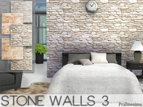 The Sims Resource Stone Walls 3 By Pralinesims Sims 4