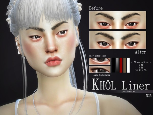 The Sims Resource: Khol Liner Kit | N25 by Pralinesims