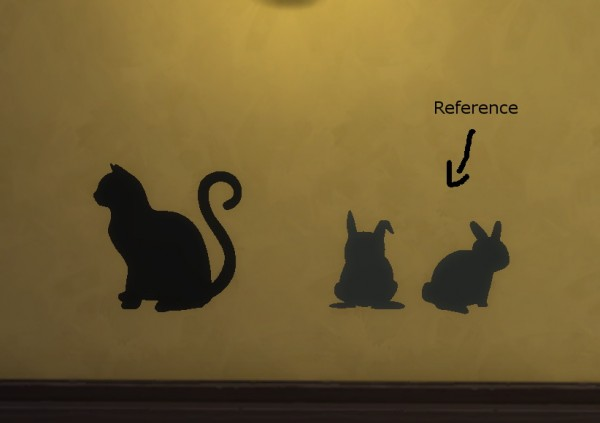 Sims4ccbyhina: Cat Wall Stencil