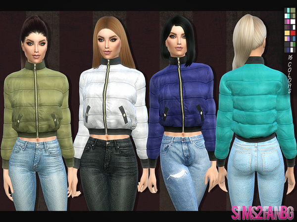 The Sims Resource 126 Padded Jacket By Sims2fanbg