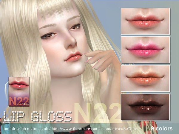 The Sims Resource: Lipstick 22 by S Club