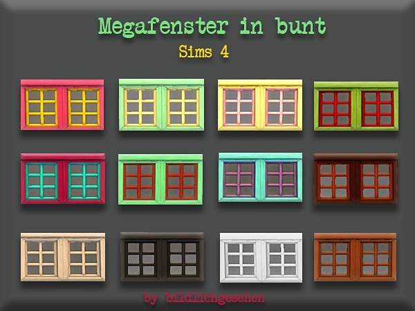 Akisima Sims Blog: Mega colorful window