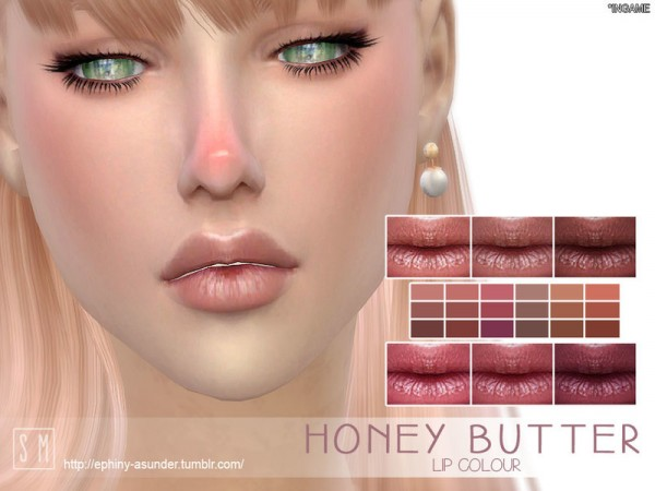 The Sims Resource: Honey Butter   Lip Colour by Screaming Mustard