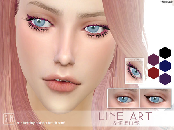 The Sims Resource: Line Art   Simple Liner by Screaming Mustard