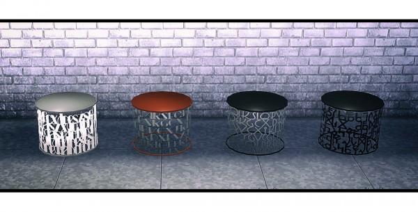 Sims 4 Designs: Small Spaces Vol.2: Typographic Furniture