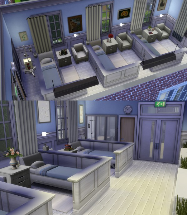 Mod The Sims: Whiting Psychiatric Hospital by Alrunia