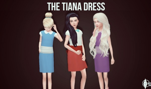 Onyx Sims: Tiana dress