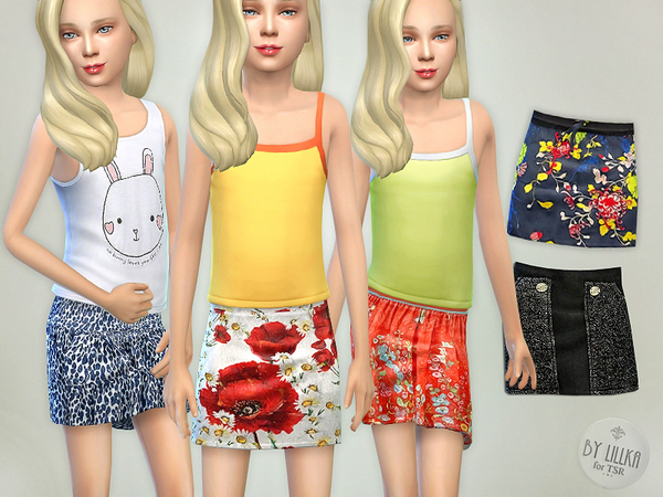 The Sims Resource: Skirts Collection 02 by lillka