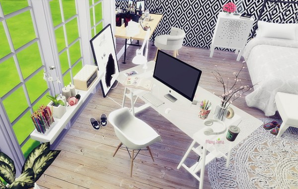 Mony Sims Girl Bedroom Sims 4 Downloads